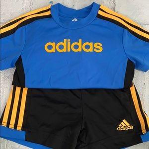 Baby Boy Adidas Shorts and T-Shirt Set Outfit
